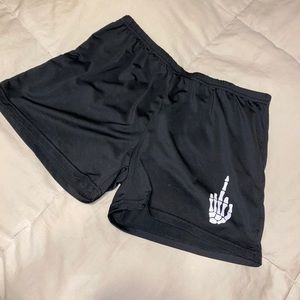Middle finger bike shorts
